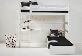 Hoppekids 'Premium' Funktionsbett weiß, inkl. Ausstattung und Rollrost
