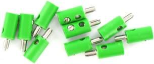 Querlochstecker grün 2,5 mm, 10 Stück