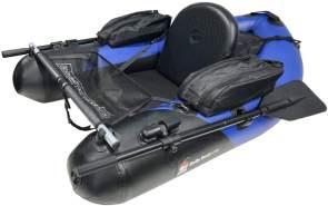 JENZI 'DEGA Belly-Boat 160' Schlauchboot, für 1 Person, blau-schwarz, 160 cm, verstellbarer Sitz, inkl. Tragegurte, 2 Paddel, Pumpe und geräumigen Taschen für Zubehör