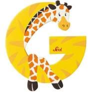Sevi | Buchstabe Tiere | G | Giraffe | Gelb