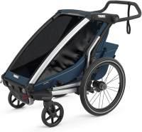 Thule 'Chariot' Fahrradanhänger Set + Thule Fußsack Cross 1 Majolica Blue
