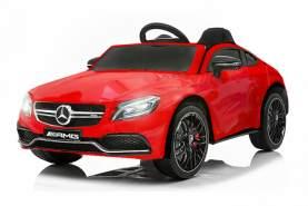 Kidcars Kinder Elektro Auto Mercedes C63 AMG 2x 25W 12V 7Ah 2. 4G RC LED Rot