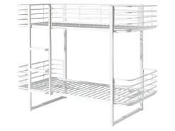Vipack 'Oscar' Etagenbett 90x200 cm, weiß, Metall