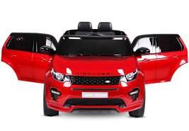 Kidcars 'Land Rover Discovery Premium' Kinder Elektroauto, Metallic Lackierung, 2x 30W, 12V 7Ah, 2.4G, RC, rot