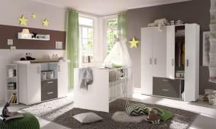 Storado 'Sydney' 5-tlg. Babyzimmer-Set weiß/lava