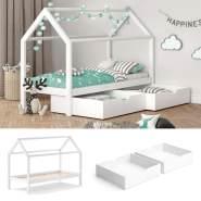 VitaliSpa 'Wiki' Hausbett 90x200 cm weiß inkl. Lattenrost und Schubladen