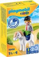 PLAYMOBIL 1.2.3 70410 Junge mit Pony, Ab 1,5 bis 4 Jahre