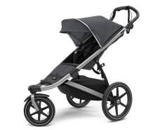 Thule 'Urban Glide 2' Kombikinderwagen 3 in 1 Dark Shadow inkl. Sportsitz, Babywanne und Babyschale Soho Grey