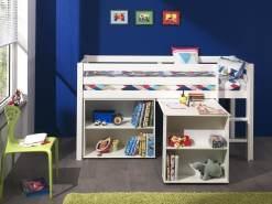 Spielbett Pino mit Schreibtisch und Regal