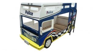 Demeyere 'Police' Auto-Etagenbett blau/weiß
