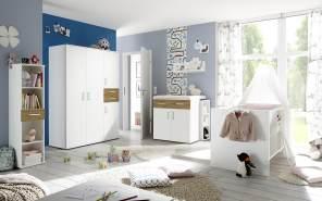 Storado 'Sienna' 8-tlg. Babyzimmer-Set weiß matt/asteiche