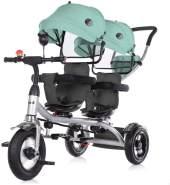 Chipolino Tricycle Dreirad 2Play zwei Kinder bis 50 kg Luftreifen Lenkstange grün
