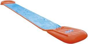 Bestway H2OGO! 'Single' Wasserrutsche mit aufblasbarer Startrampe, 549 x 82 cm, integrierter Wassersprinkler, einfacher Anschluss an Gartenschlauch