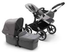 Bugaboo Donkey3 Mono Kinderwagen Set 3 in 1 incl. Babyschale Alu / Grau / Grau Meliert Soho Grey