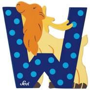 Sevi | Buchstabe Tiere | W | Wapiti | Blau
