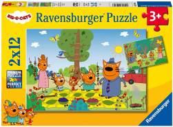Familientag in der Natur (Kinderpuzzle), 2x12 Teile