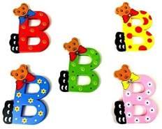 Brink Holzspielzeug Buchstabe: 'B' - 1 Stück, zufällige Auswahl, keine Vorauswahl möglich