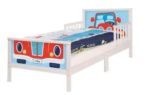 Roba 'Rennfahrer' Kinderbett 70 x 140 cm, inkl. Matratze, Bettwäsche & Lattenrost