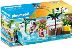 Playmobil Family Fun 70611 'Kinderbecken mit Whirlpool', 42 Teile, ab 4 Jahren
