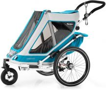 Qeridoo 'Speedkid1' Fahrradanhänger 2020, Petrol, 1-Sitzer