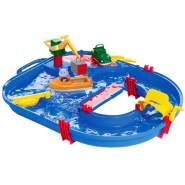 AquaPlay 'Start Set' Wasserbahn, 68 x 65 x 22 cm, inkl. Kran, Wasserfahrzeug mit Container, Containerboot, 1 Spielfigur