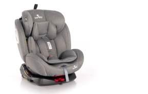 Lorelli Kindersitz Lyra Isofix Gruppe 0+/1/2/3 (0 - 36 kg) grau