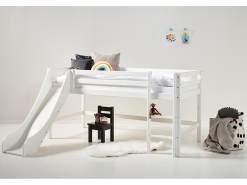 Hoppekids 'Basic' Halbhochbett weiß, 90x200 cm