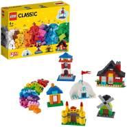 LEGO Classic 11008 'Bausteine - bunte Häuser', 270 Teile, ab 4 Jahren, Spielzeug für Vorschulkinder mit 6 einfachen Modellen