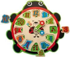 TEOREMA Satz 40527–Didaktische Uhr aus Holz