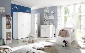 Storado 'Sienna' 8-tlg. Kinderzimmer-Set weiß, matt