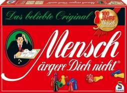 Schmidt Spiele 49021 'Mensch ärgere Dich Nicht - Standardausgabe' Würfelspiel, ab 6 Jahren, 2-6 Spieler, mit hochwertigen Kunststofffiguren