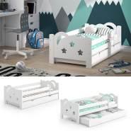 VitaliSpa 'Sari' Kinderbett 70 x 140 cm weiß, inkl. Schublade, Rausfallschutz ohne Matratze