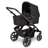 ABC Design 'Salsa 4' Kombikinderwagen 3 in 1 Set S midnight inkl. Babyschale asphalt, Adapter und Regenverdeck