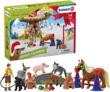 Schleich 98063 Adventskalender Farm World 2020, Spielfiguren, Handbemalt und naturalistisch modeliert