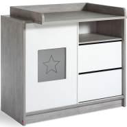 Schardt 'Eco Star' Wickelkommode grau/weiß