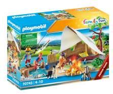 Playmobil Family Fun 70743 'Familie beim Campingausflug', 70 Teile, ab 4 Jahren