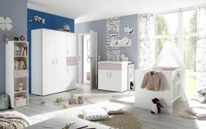 Storado 'Sienna' 8-tlg. Babyzimmer-Set weiß matt/flieder