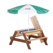 AXI 'Nick' Matsch-und Spieltisch mit Sonnenschirm, braun