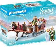 Playmobil Spirit Riding Free 70397 'Winterliche Schlittenfahrt', 28 Teile, ab 4 Jahren