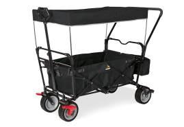 Pinolino 'Paxi dlx Comfort' Klappbollerwagen in Schwarz, inkl. Feststellbremse, Sonnendach, Hecktasche und Schiebegriff