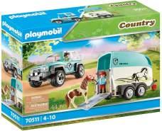 Playmobil Country 70511 'PKW mit Ponyanhänger', 44 Teile, ab 4 Jahren