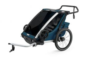 Thule 'Chariot' Fahrradanhänger Set + Thule Babysitz Cross 2 Majolica Blue