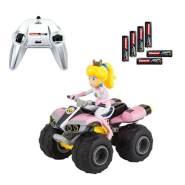 Carrera RC Nintendo Mario Kart 8 Peach Quad │ Ferngesteuertes Auto ab 6 Jahren für drinnen & draußen │ Mini Mario Kart Auto mit Fernbedienung zum Mitnehmen │ Spielzeug für Kinder & Erwachsene