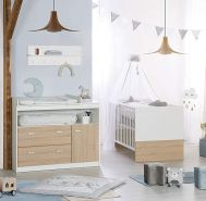 Roba 'Gabriella' 2-tlg. Kinderzimmerset, natur/weiß, inkl. Kinderbett und Kommode (groß)