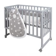 Roba 'Little Stars' Stubenbett 3 in 1 taupe