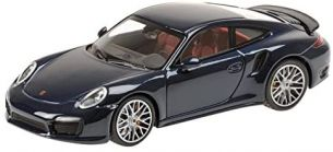Minichamps 1: 43 Maßstab 2013 Porsche 911 Turbo S (Metallic Blau)