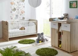Ticaa 'Nico' 2-tlg. Babyzimmer-Set Sonoma-Weiß