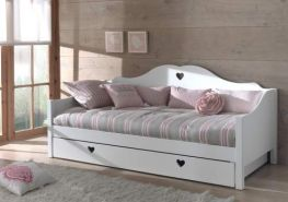 Vipack 'Amori' Sofabett 90x200 cm, weiß, inkl. Bettschublade