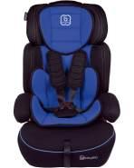 BabyGo 'Freemove' Autokindersitz in Blau, 9 bis 36 kg (Gruppe 1/2/3), umbaubar zur Sitzerhöhung
