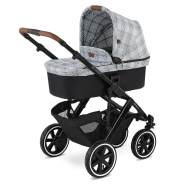 ABC Design 'Salsa 4 Air' Kombikinderwagen 3 in 1 Set S smaragd inkl. Babyschale deep black und Adapter